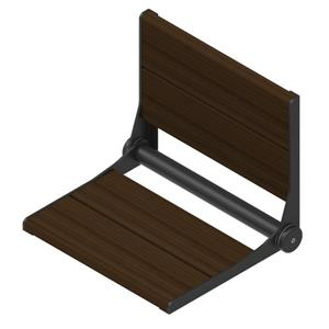 Invisia Collection SerenaSeat 18-in Matte Black Walnut
