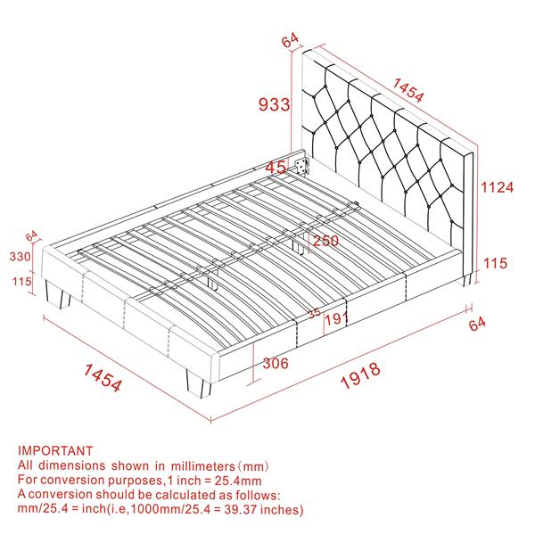 Worldwide Home Furnishings Off-White 80.50-in X 57.50-in Double Tufted Upholstered Platform Bed
