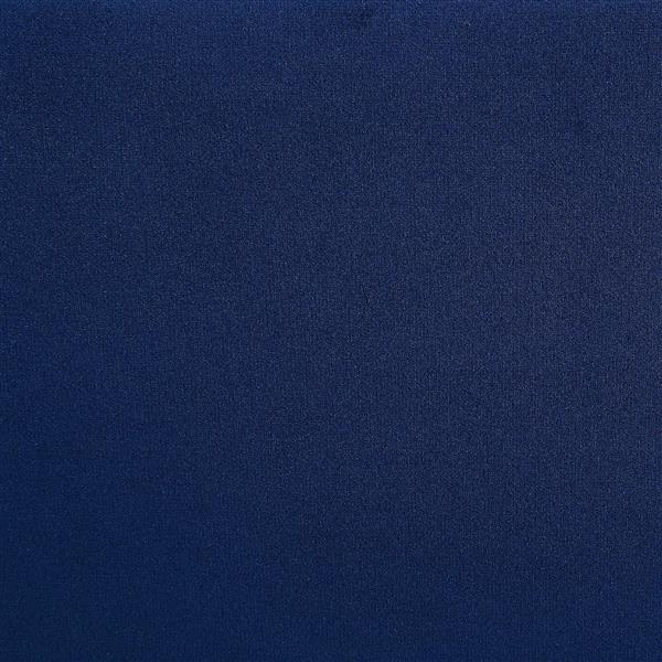 Grand lit avec clous décoratifs, bleu