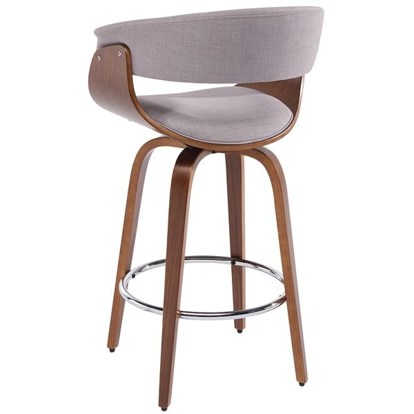 Worldwide Home Furnishings !nspire Light Grey Bentwood and Fabric Counter Stool