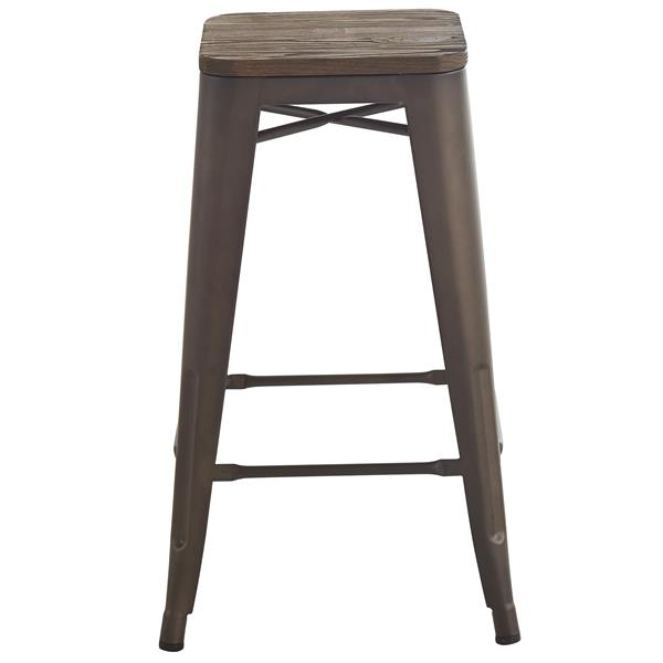 Worldwide Home Furnishings Industrial Gunmetal Counter Stools (Set of 4)