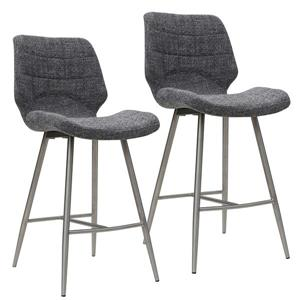 Worldwide Home Furnishings Counter Stool  - Set of 2 - Grey