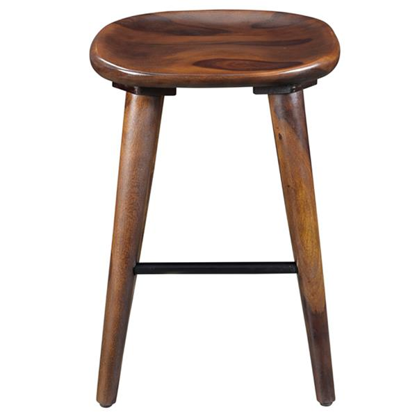 Worldwide Home Furnishings Walnut Wood Counter Height Stool 26-in