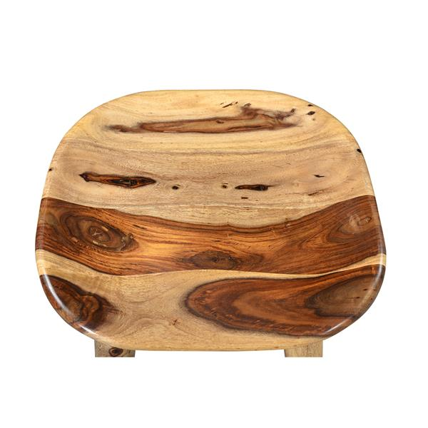 Worldwide Home Furnishings Natural Wood Counter Height Stool 26-in
