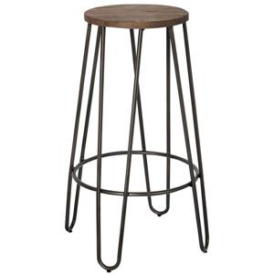 Worldwide Home Furnishings Metal 26-in Counter Height Black Stools (Set of 4)