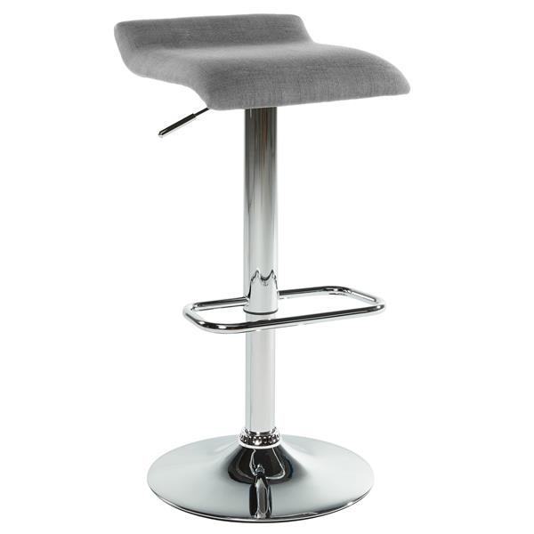 Worldwide Home Furnishings Grey Adjustable Height Fabric Stool (Set of 2)