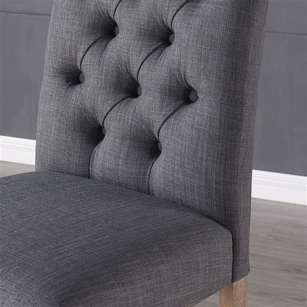 Worldwide Home Furnishings !nspire Grey Button Tufted Fabric Counter Stool (Set of 2)