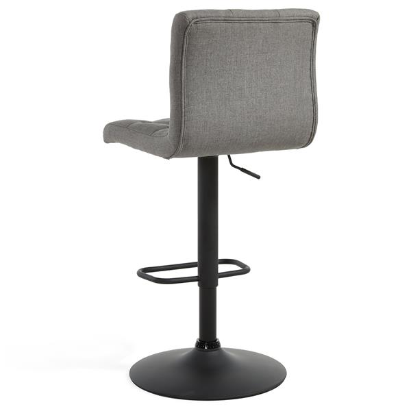 Worldwide Home Furnishings WHi Grey Adjustable Button-Tufted Fabric Stool (Set of 2)