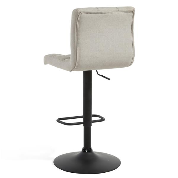 Worldwide Home Furnishings WHi Beige Adjustable Button-Tufted Fabric Stool (Set of 2)