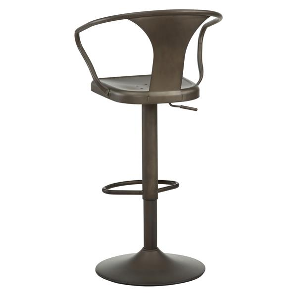Worldwide Home Furnishings Gunmetal Adjustable Metal Stool