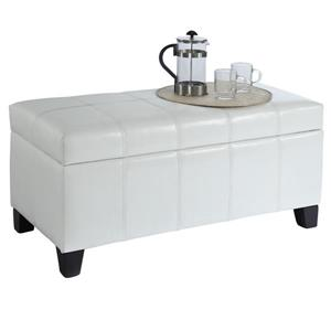 Worldwide Home Furnishings White Storage Ottoman
