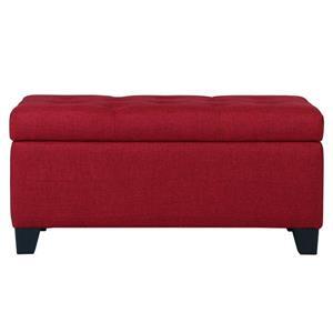 Ottomane de rangement, rouge