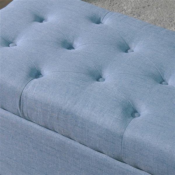Worldwide Home Furnishings Blue Storage Ottoman