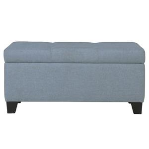 Worldwide Home Furnishings Blue Storage Ottoman