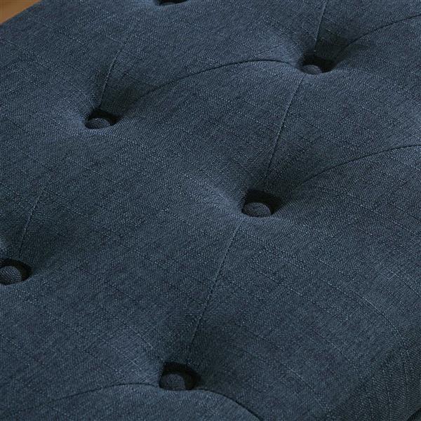 Ottomane de rangement, gris bleu