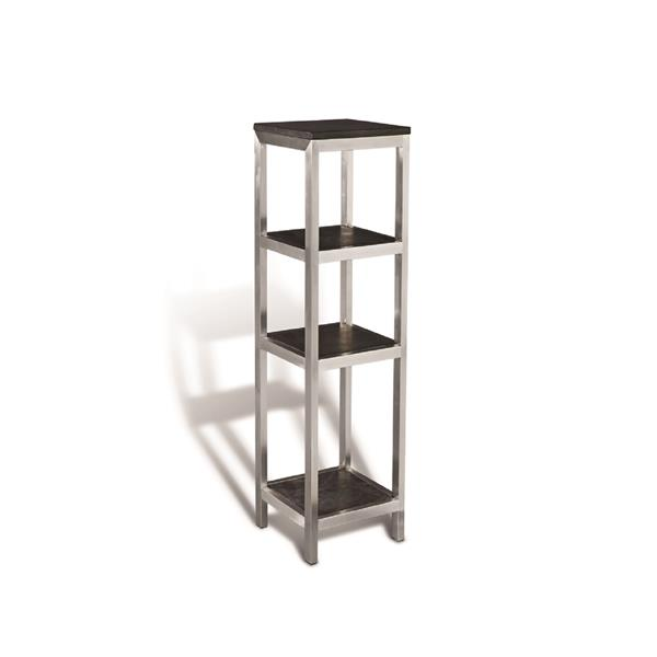 Unik Stone Black and Grey Shaded Steel and Stone Side Stand