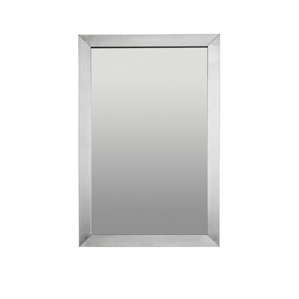 Miroir en métal Unik Stone, 20 po x 48 po
