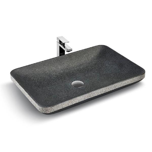 Unik Stone Vessel sink - Granite - 24-in