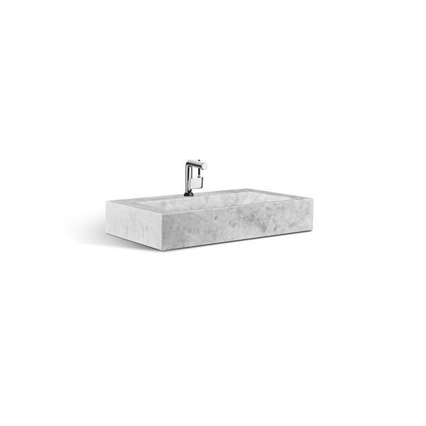 Lavabo de pierre Unik Stone, marbre gris, 30 po