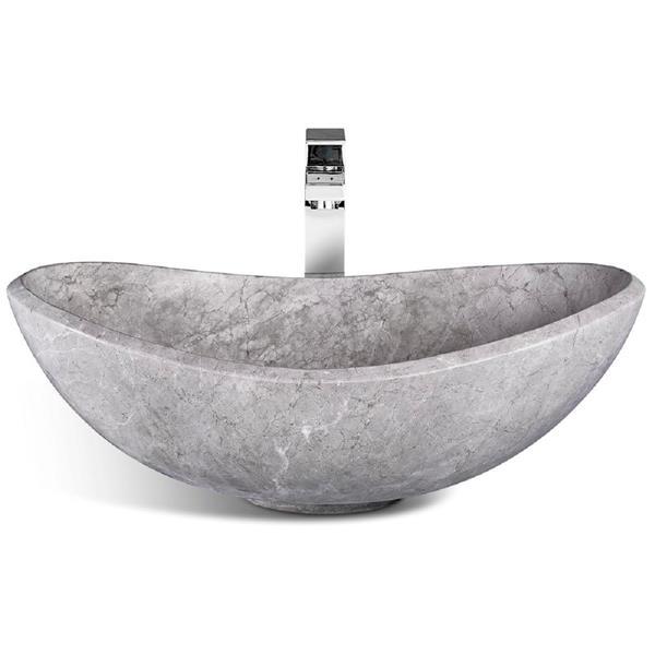 Unik Stone Vessel Sink - Ice Marble