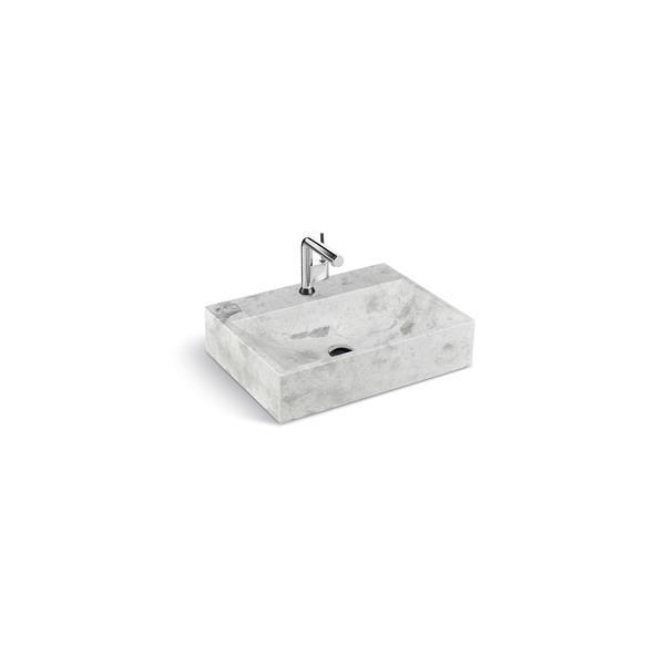 Lavabo de pierre Unik Stone, marbre gris, 24 po
