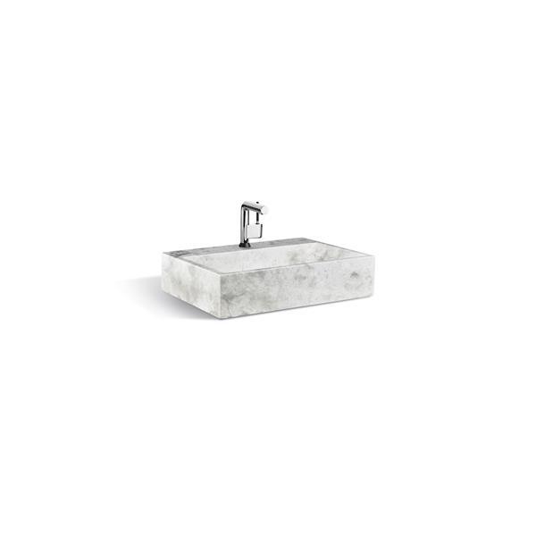 Unik Stone Sink - Ice Marble - 24-in