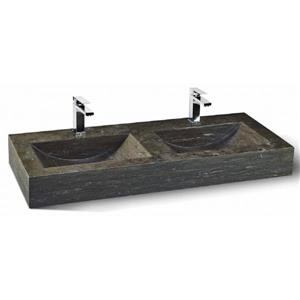 Unik Stone Double Sink - Limestone - 48-in
