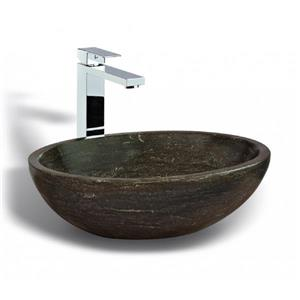 Unik Stone Vessel Sink - Limestone - 20-in