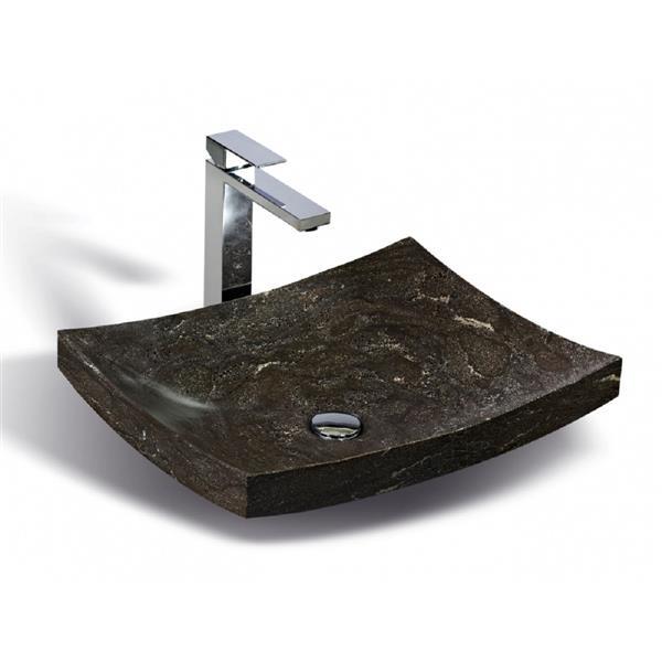 Vasque en pierre calcaire Unik Stone, 20 po