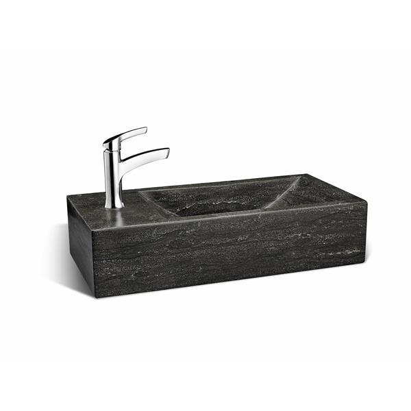 Lave-main en pierre calcaire Unik Stone, 18 po