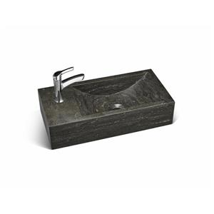 Unik Stone Classic Collection Hand Sink - Limestone -  18-in