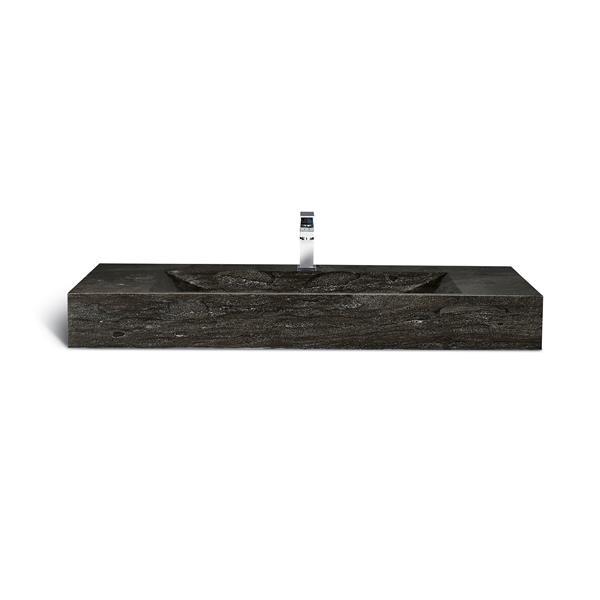 """Lavabo simple en pierre calcaire Unik Stone, 48"""""""