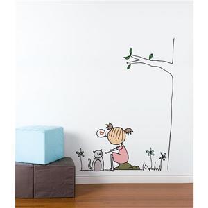 Appliqué mural, chat Piccolo