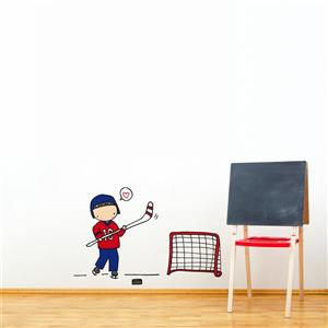 Piccolo Hockey Player Wall Decal