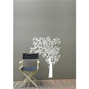 ADzif O'Nature Wall Decal - 4.8' x 6.3' - White