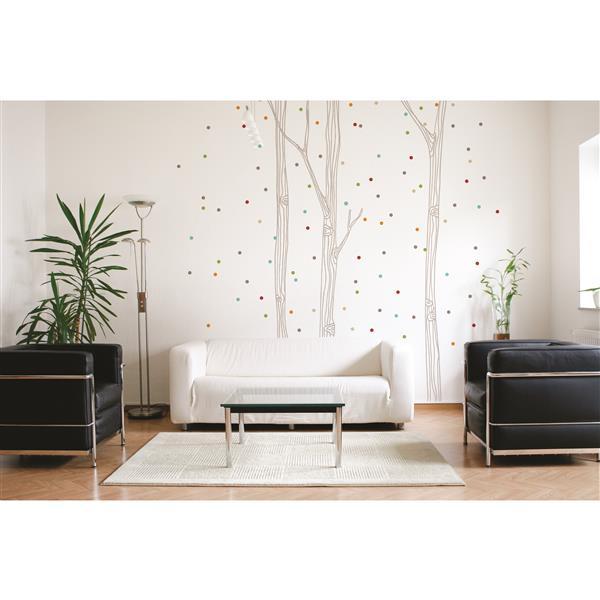 Appliqué mural, confetti , 9,6' x 8,8'