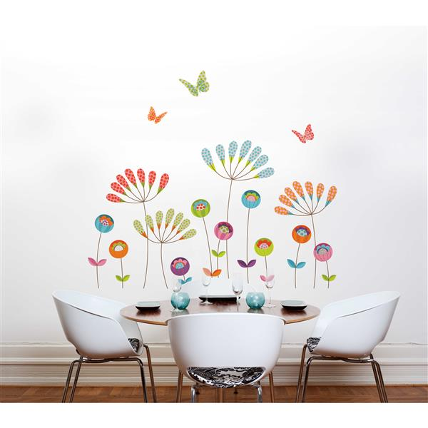ADzif Colourful Pompoms Wall Decal - 6.2' x 5.4'