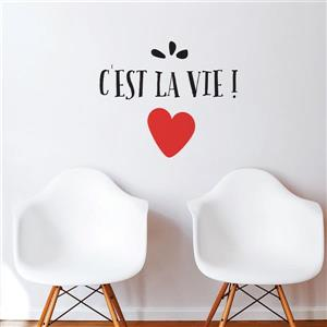 "ADzif Text Wall Decal - ""C'est la vie"" - 1.7' x 2'"