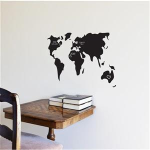 Surf and Turf Chalkboard Wall Decal - 1.8' x 1.1'