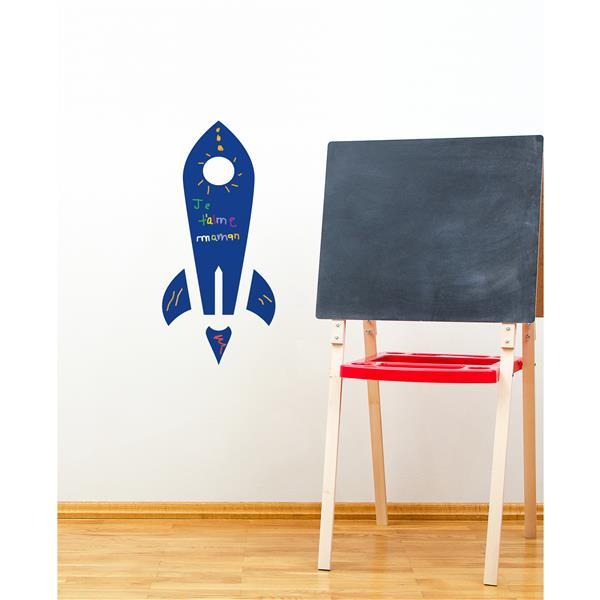 ADzif Rocket Chalkboard Wall Decal - 1.1' x 2.3'