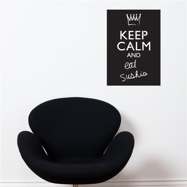 ADzif Keep Calm and... Chalkboard Wall Decal - 1.1' x 1.8'