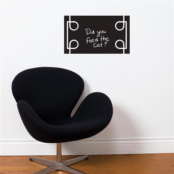 ADzif Black Liana Chalkboard Wall Decal - 1.8' x 1.1'