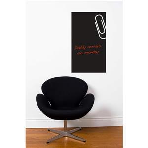 Appliqué mural, tableau noir maxi-clip, 1,2' x 2'