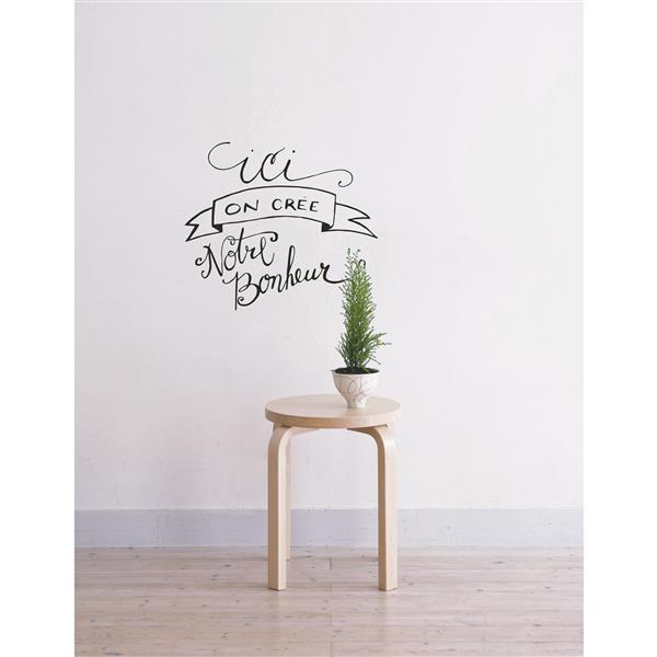 "ADzif Text Wall Decal - ""Créer notre bonheur"" - 1.8' x 1.6'"