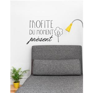 "ADzif Text Wall Decal - ""Profite du présent""  - 1.8' x 1.2'"