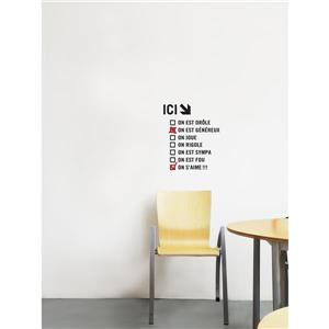 """ADzif Text Wall Decal - """"On est Drole"""" - 1.3' x 1.5'"""