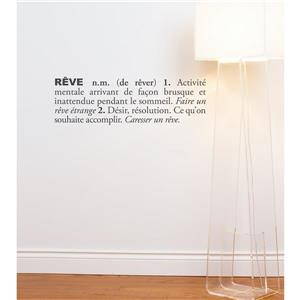 "Appliqué mural, ""Rêve"", 2,5' x 0,8'"