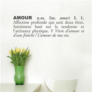 """ADzif Text Wall Decal - """"Amour"""" - 2.5' x 0.8'"""