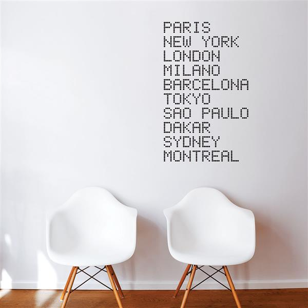 ADzif Text Wall Decal - Airport  - 2.3' x 3.3'