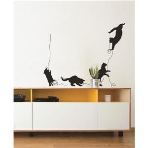 ADzif Cat & Ball Wall Decal - 4.6' x 3.6'